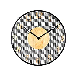 Light Years Metal Grid Wall Clock Mute Wall Clock Non-tick Large Precision scanning Movement Modern Decorative Kitchen Bedroom Office