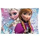 Sofa Pillowcase Disney Movie 3D Cartoon Frozen sister princess Anna And Elsa Custom Zippered Pillow Cases 20*30 inches (one side)