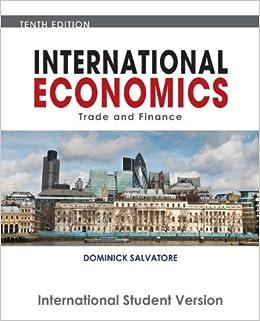 Book International Economics by Dominick Salvatore (2010-07-30)