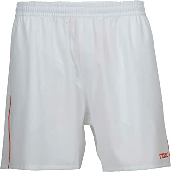 Nox Short Team Blanco con Logo Rojo: Amazon.es: Deportes y aire ...