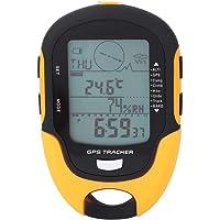 Altimètre numérique, GPS de navigation portable USB rechargeable récepteur numérique Altimètre Baromètre Thermomètre LCD avec lampe de poche LED pour camping randonnée escalade en plein air sport