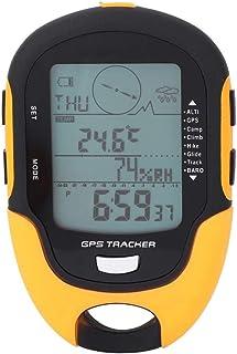 Tbest Digital Altimeter GPS Navigation Receptor Barometro Portatile per altimetro Digitale Ricaricabile con Torcia a LED per Escursioni in Campeggio