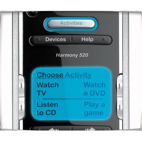amazon com logitech harmony 520 advanced universal remote rh amazon com Logitech Harmony 650 Harmony 520 Review