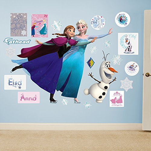 Fathead 74-74646 Frozen: Ice Skating Collection-Giant Officially Licensed Disney Removable Wall Decal ()