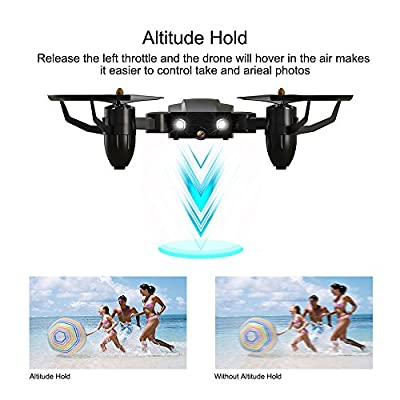 ScharkSpark Drone Guard for Beginners, Drone with 1080P FPV HD Camera/Video, Portable RC Quadcopter, 2.4G 6-Axis Headless Mode Altitude One Key Return 3D Flips and Rolls Toys: Toys & Games