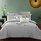 4 Piece Paisley Duvet Cover Set (Queen) - 1 Duvet Cover 2 Pillow Shams - 1 Flat Sheet Luxe Style Brushed Velvety Microfiber - Floral Pattern - Comfortable, Breathable, Soft & Extremely Durable , Eleven