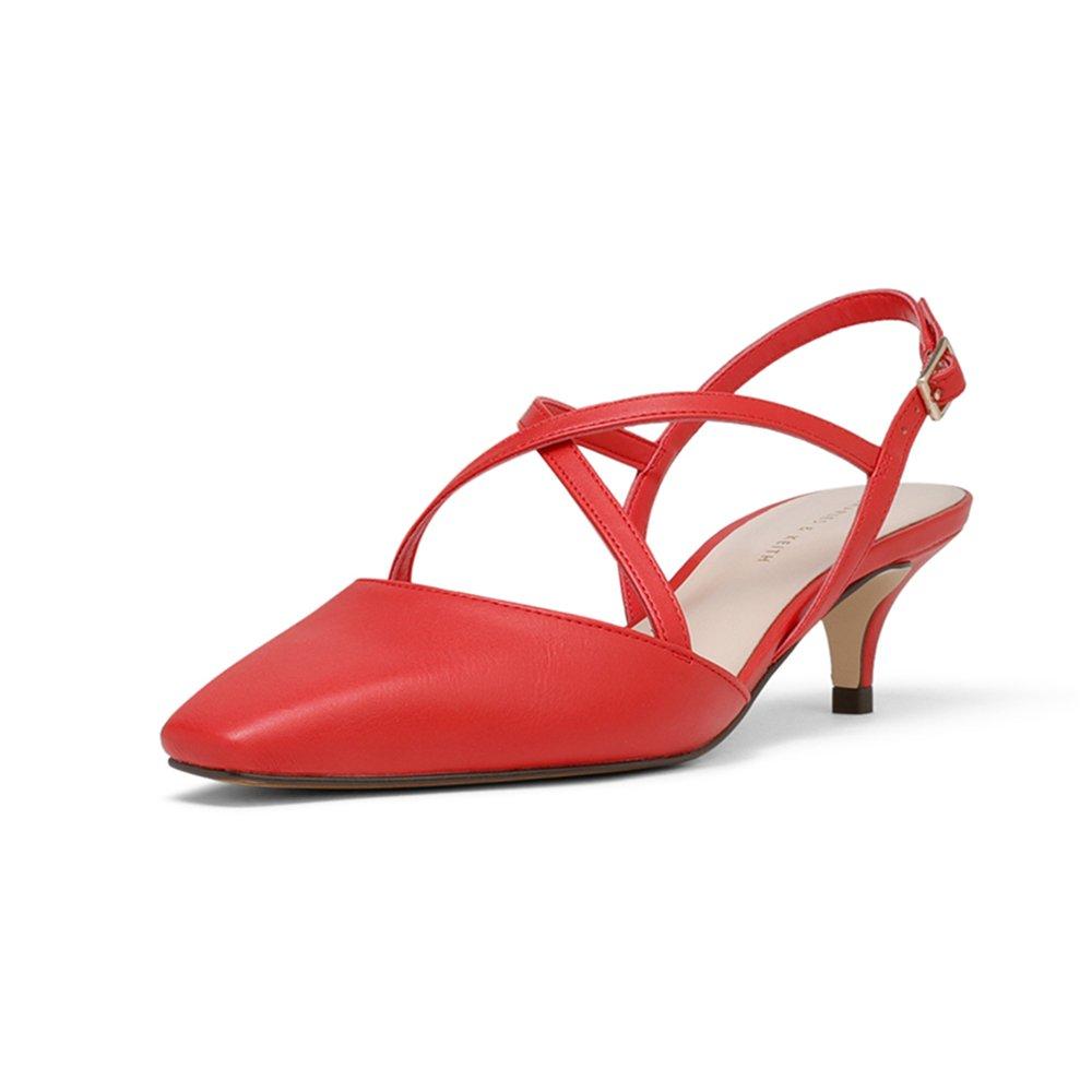 9a571545fde YQQ Tacones Altos Medio Talón Zapatos Individuales Sandalias De Verano Dama  Zapatos De Mujer Acogedor Moda