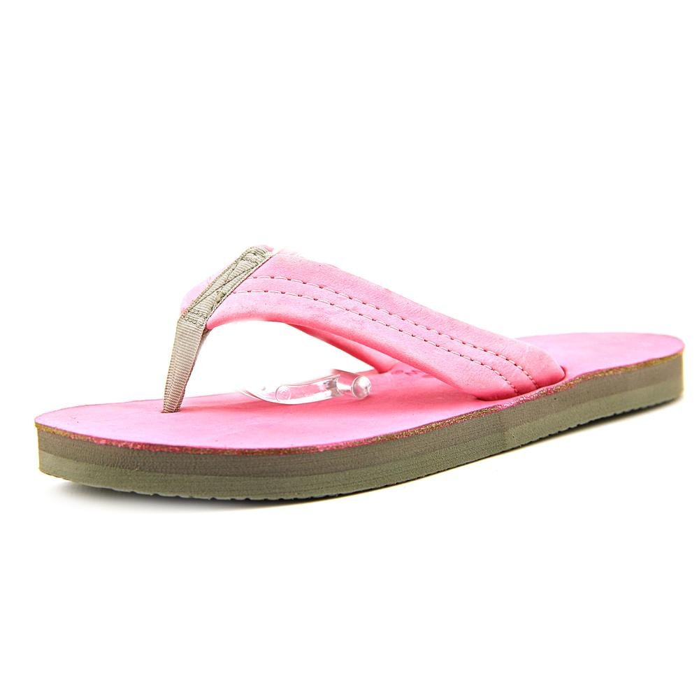 Colors of Rainbow Rainbow Kids Milled Premier Leather Single Layer Sandal 13-1 Pink/Grey