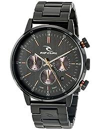 Rip Curl Men's 'Drake Chrono Midnight SSS' Quartz Stainless Steel Sport Watch, Color:Black (Model: A2870-MID)