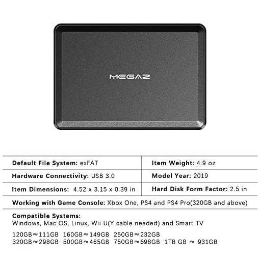 """New 250GB External HDD Portable 2.5/"""" USB Hard Drive HDD With Warranty Silver"""