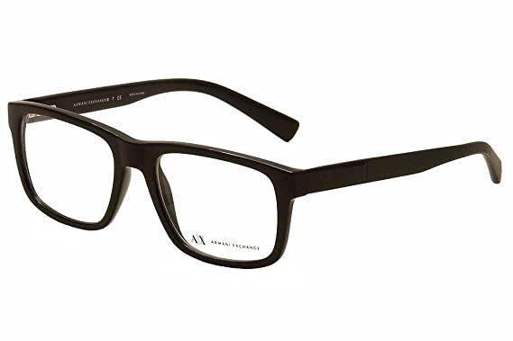 Amazon.com: Armani Exchange AX3025 Eyeglass Frames 8178-53 - Black ...