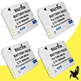 Four Halcyon 1600 mAH Lithium Ion Replacement Battery for Canon PowerShot SX260 HS Digital Camera and Canon NB-6L
