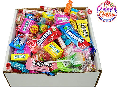Assorted Candy 5lbs Bulk Mix - Smarties, Caramel Creams, Laffy Taffy, Tootsie Fruit Roll, Chupa Chups, Airheads, Nerds, Fireballs, Airheads and Tiger Pops - 5 pounds ()