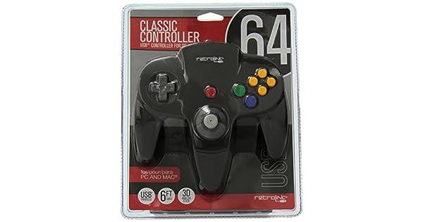 Amazon com: Retrolink Nintendo 64 Classic USB Enabled Wired