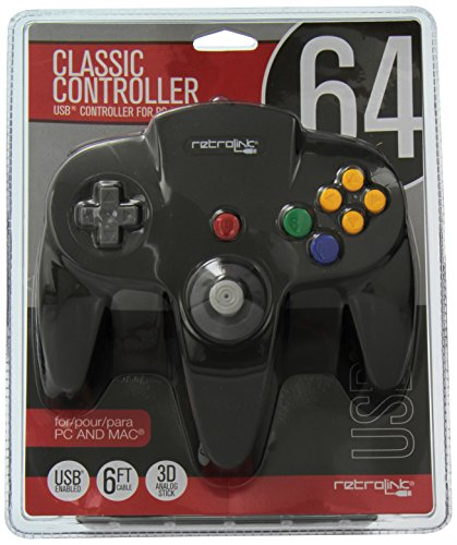 4 Classic USB Enabled Wired Controller for PC and MAC, Black ()