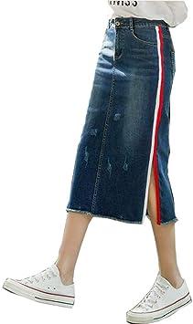 SWOVQ Falda Lápiz Falda Faldas Largas De Cintura Alta para Mujer ...