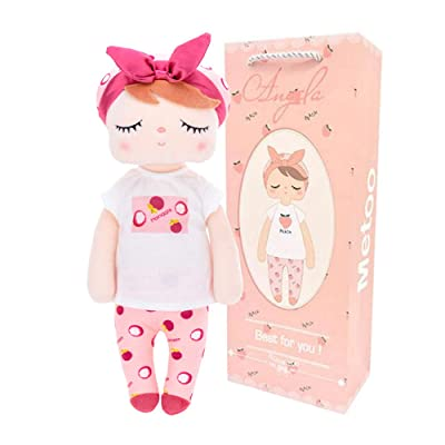 "LANRUO Me Too 13"" Fruit Doll Manggis Angela Stuffed Bunny Baby Plush Rabbit Doll Birthday for Girls Kids (Manggis): Toys & Games"