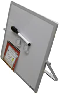 Superior Dooley Aluminum Framed Double Sided Magnetic Dry Erase Board With Easel  Stand, 10 X 10