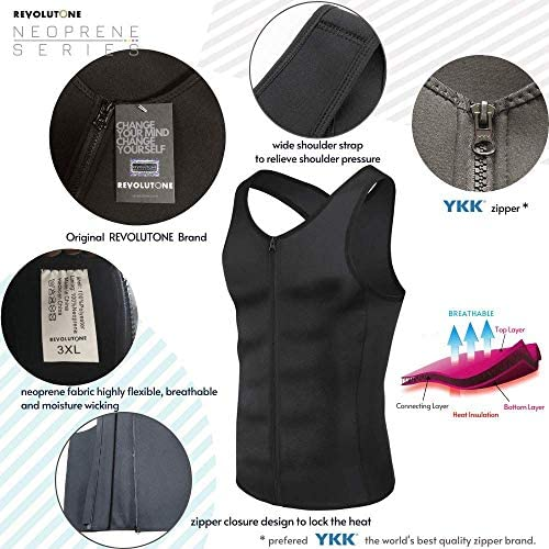 Waist Trainer for Men Vest Corset Combined with Abs Stimulator Helps to Healthy Weight Loss and Belly Fat Burning on Fitness Workouts or Daily Life and Slimming Tank Top Allows That BMI Goals 9
