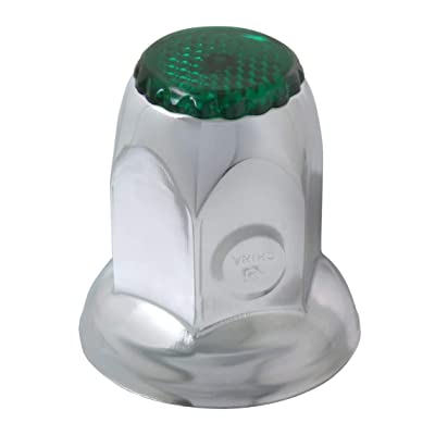 GG Grand General 10472SP S.S. Nut Cover w/Green Ref. 33mm X2 inches 10pcs=Cd, Set of 10: Automotive