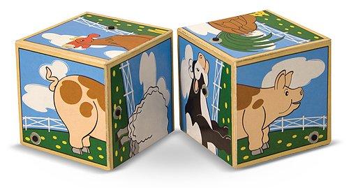 Farm Themed 2-Piece Sound Blocks FREE Melissa /& Doug Scratch Art Mini-Pad Bundle 11969