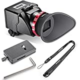 """Neewer® S6 3X Optical Magnification Foldable Viewfinder for Canon 5DS,7D,7DII,5DII,5D3,D810,D800E,D750,D300S,D600,D610,Nikon D3200,D5300,D5200 and Other 3""""/3.2"""" LCD Screen DSLR Cameras"""