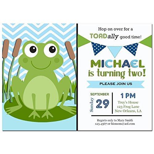 Frog Invitation Printable Or Printed