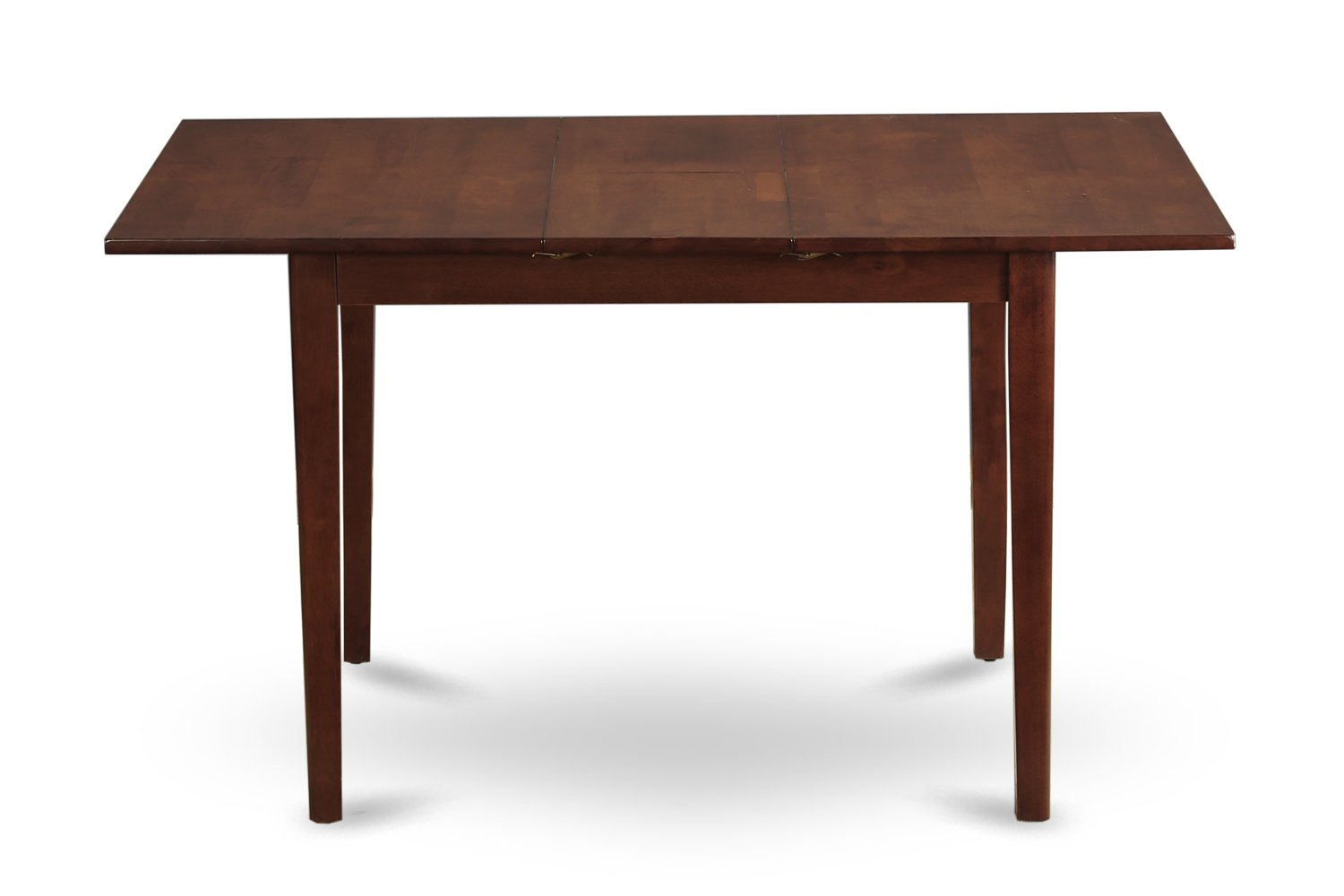 East West Furniture NFT-MAH-T Rectangular Table with 12-Inch Butterfly Leaf, Mahogany Finish