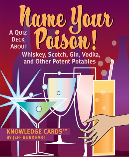 Name Your Poison! A Quiz Deck About Whiskey, Scotch, Gin, Vodka, and Other Potent Portables Knowledge Cards Deck