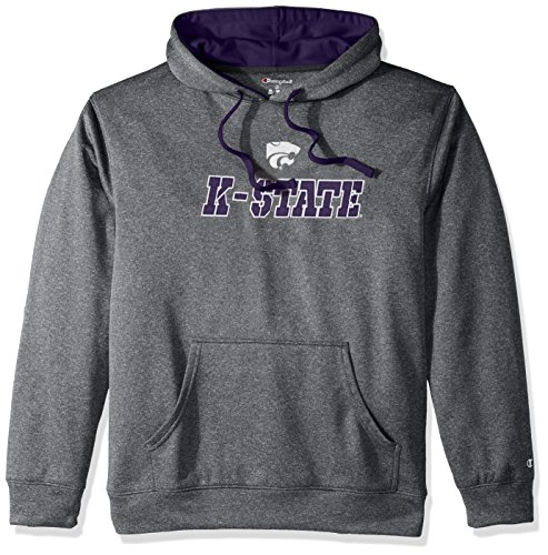 Champion Adult NCAA Men's Take Off Pullover Hood with Applique, Anthracite, - Pullover Applique