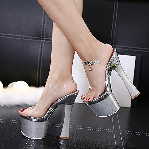 XiaoGao 20 cm super talon noche tienda zapatos modelo caminando y show de tubos de acero