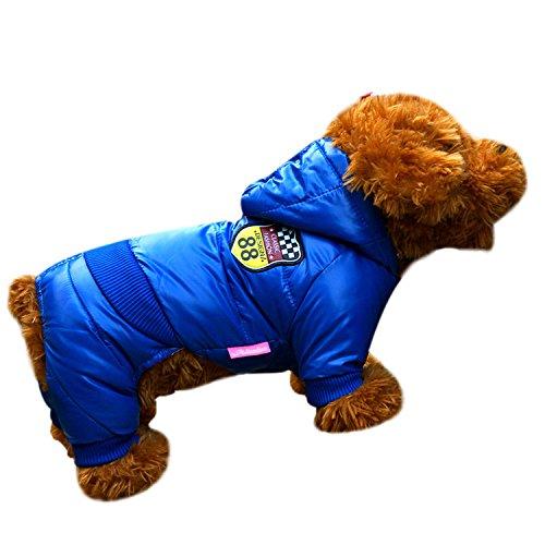 Laitb Haustier Hundewinter Warmer Aufgefüllter Jacke Mantel Kapuze Hoodie Winterjacke Hundemantel Hundebekleidung