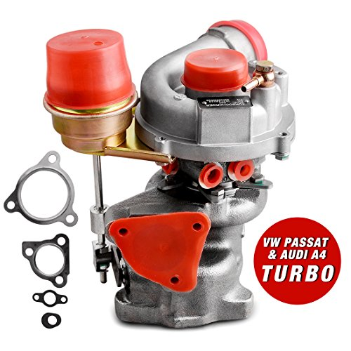 New Genuine Turbo Exact Fit Turbocharger for VW PASSAT & AUDI A4 1997-2006, AUTOSAVER88 1.8T Turbo Kit W/ Premium K03 Turbocharger & Gaskets, 1 Year (Turbo Gasket Kit)