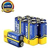 ALLMAX All-Powerful Alkaline Batteries- 9 Volt (8-Pack), Ultra Long Lasting, Leak-Proof, 9V Cell Non Rechargeable