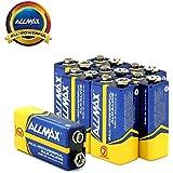 ALLMAX All-Powerful Alkaline Batteries- 9 Volt (8-Pack), Ultra Long Lasting, Leak-Proof, 9V Cell