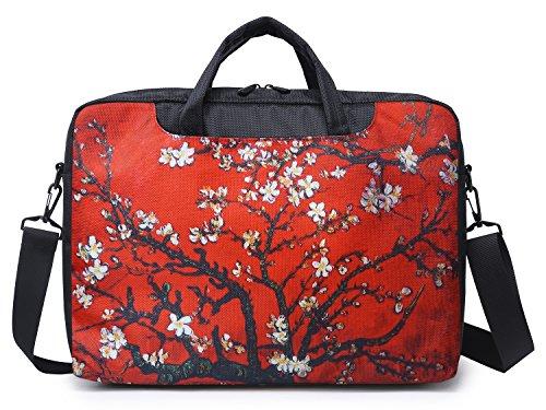 - Meffort Inc 17 17.3 Inch Laptop Computer Shoulder & Hand Carrying Messenger Bag Briefcase - Van Gogh Cherry Blossom