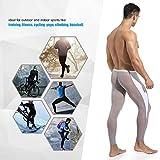 MIZOK Men's Mesh Yoga Pants See Through Compression