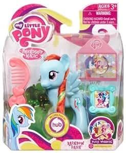 My Little Pony Figure Rainbow Dash Pony Wedding Series Toys Games