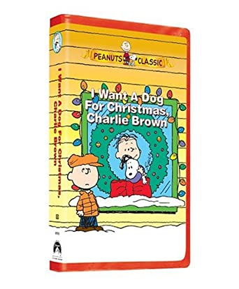 Amazon.com: I Want a Dog for Christmas, Charlie Brown [VHS]: Jimmy ...