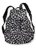 Victoria's Secret PINK Bling Black Leopard Cheetah Large Backpack Travel Bag *RARE*