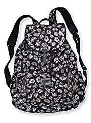 Bling Black Leopard Cheetah Large Backpack