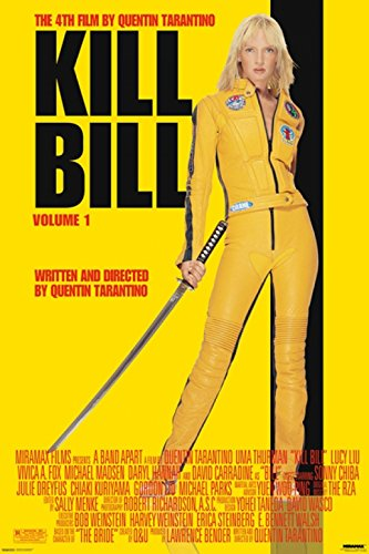Pyramid America Kill Bill Volume 1 Uma Thurman Yellow Jumpsu