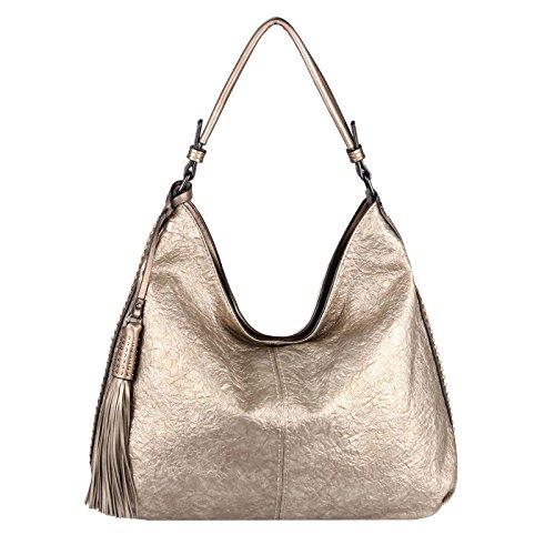 BxHxT femme OBC 49x34x12 cm Only ca main Couture Schwarz Sac Noir 49x34x12 à Cm Bronze Beautiful pour Cm 49x34x12 Zc1OZq6An