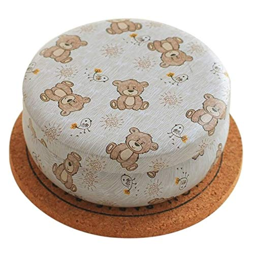 Storage Boxes & Bins - Davitu 8.8X3.5 cm Portable Round Tea Sugar Coffee Coin Storage Box Kitchen Flower Drawing Style Gift Tin Tinplate Box - (Color: 5)