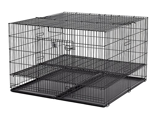 MidWest Puppy Playpen with 1 Inch Mesh Floor Grid, 48'L (Large Model 248-10)
