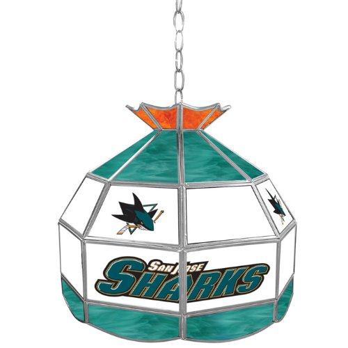 NHL San Jose Sharks Tiffany Gameroom Lamp, 16'' by Trademark Gameroom