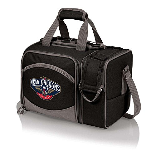 NBA New Orleans Pelicans Malibu Picnic Cooler Tote, One Size, Black by PICNIC TIME