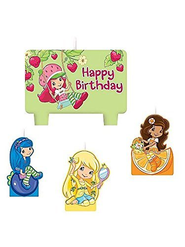 amscan Strawberry Shortcake 'Dolls' Cake Candle Set (4pc)]()