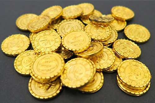 Uniton Gold Pirate Coins -- 36 Pieces -- Toy - Captain Barbossa Costume