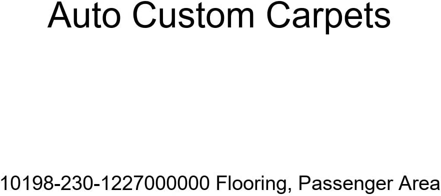 Passenger Area Auto Custom Carpets 10198-230-1227000000 Flooring
